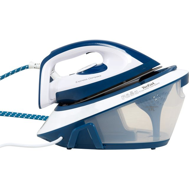 Tefal Express Compact SV7110G0 Steam Generator Iron - Blue / White
