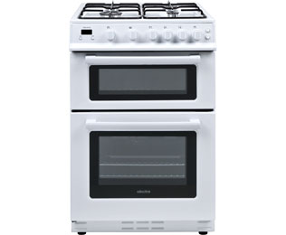 Electra TG60W 60cm Gas Cooker with Variable Gas Grill - White - B Rated - TG60W_WH - 1
