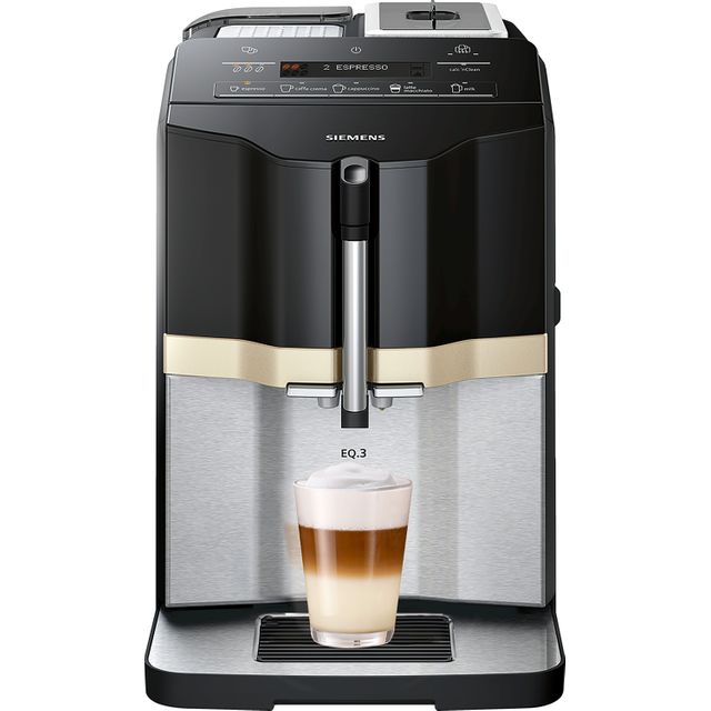 Siemens EQ3 TI305206RW Bean to Cup Coffee Machine - Black / Stainless Steel - TI305206RW_BKSS - 1