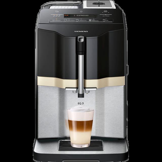Siemens EQ3 TI305206RW Bean to Cup Coffee Machine - Black / Stainless Steel