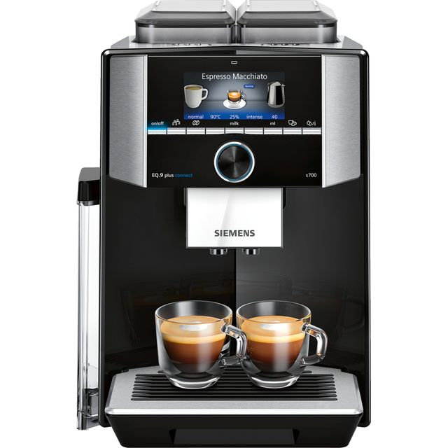 Siemens EQ9 TI9573X9RW Bean to Cup Coffee Machine - Black / Stainless Steel - TI9573X9RW_BKSS - 1
