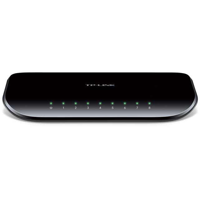 TP Link TL-SG1008D V6 TL-SG1008D V6 Routers & Networking in Black