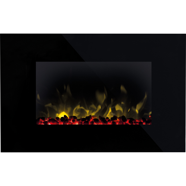Dimplex Toluca TLC20 Pebble Bed Wall Mounted Fire - Black - TLC20_BK - 1