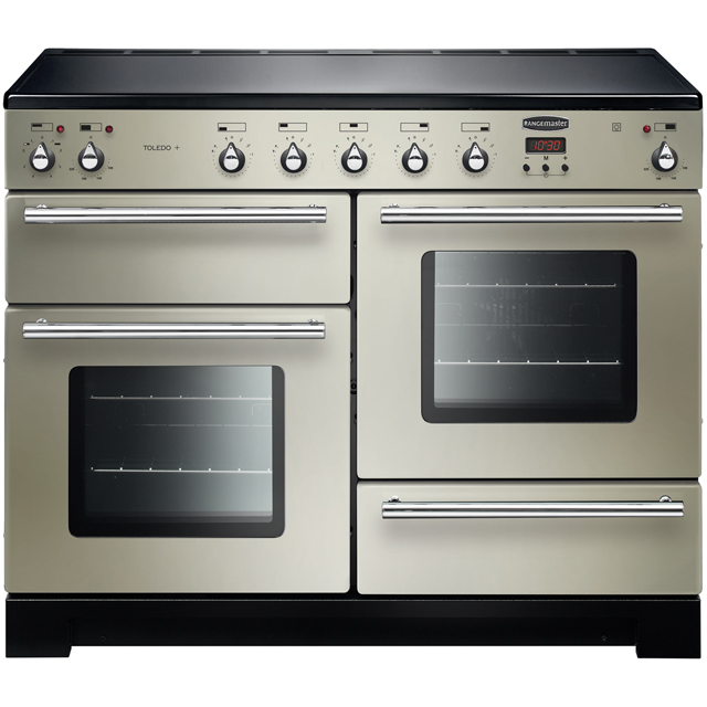 Rangemaster Toledo + TOLP110EIIV/C 110cm Electric Range Cooker with Induction Hob - Ivory / Chrome - A/A Rated - TOLP110EIIV/C_IV - 1
