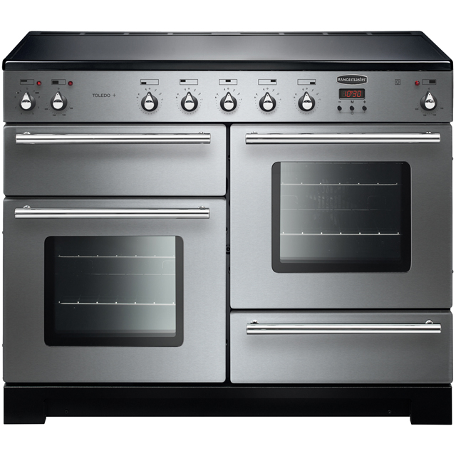 Rangemaster Toledo + TOLP110EISS/C 110cm Electric Range Cooker with Induction Hob - Stainless Steel - A/A Rated - TOLP110EISS/C_SS - 1