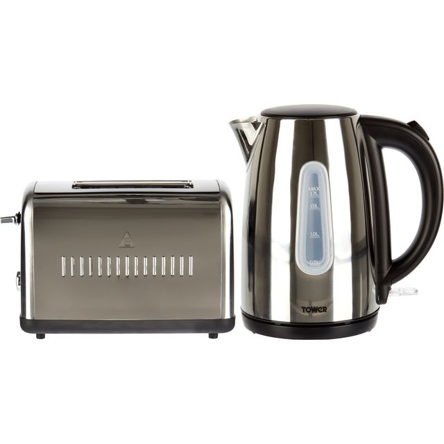 Tower AOBUNDLE001 Kettle And Toaster Set - Polished Stainless Steel
