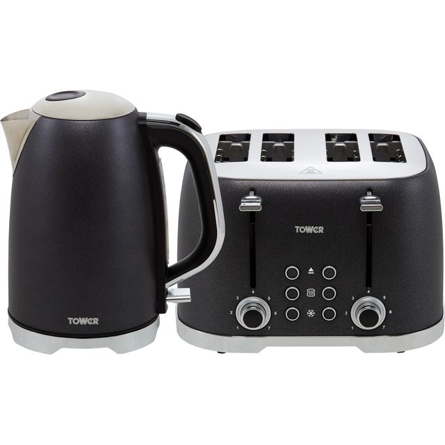 Tower Glitz AOBUNDLE006 Kettle And Toaster Sets - Black
