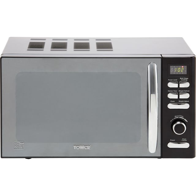 Tower T24019 20 Litre Microwave - Black - T24019_BK - 1