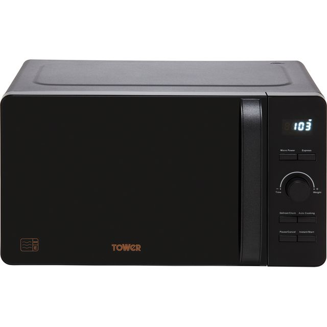 Tower T24021BS 20 Litre Microwave - Black - T24021BS_BK - 1
