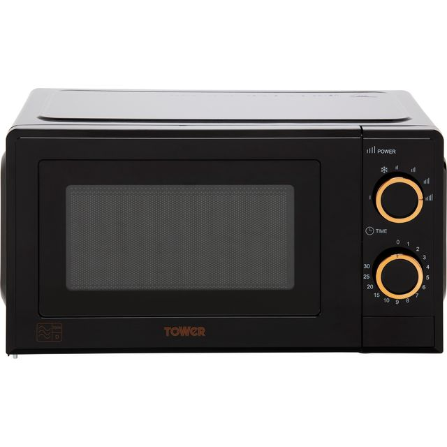 Tower T24029RG 17 Litre Microwave - Black / Rose Gold - T24029RG_BRG - 1