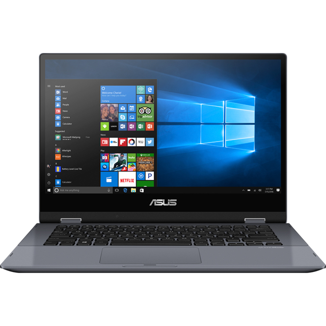 "Asus Vivobook Flip TP412FA 14"" 2-in-1 Laptop Includes Stylus - Grey - TP412FA-EC117T - 1"