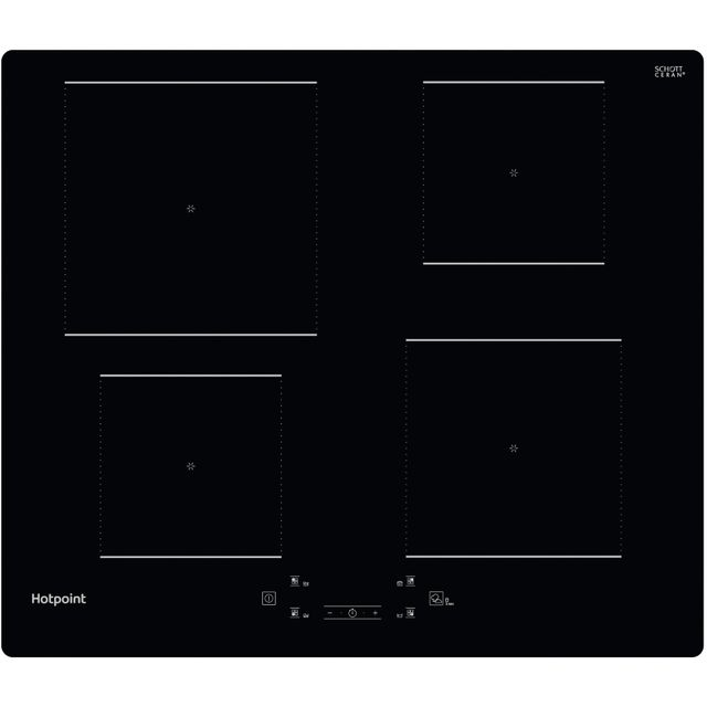 Hotpoint TQ1460SNE Built In Induction Hob - Black - TQ1460SNE_BK - 1