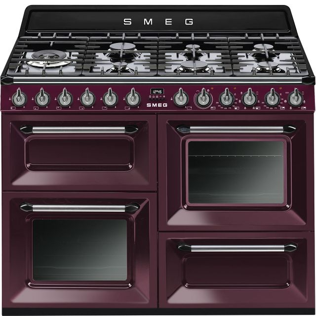 Smeg Victoria TR4110RW1 110cm Dual Fuel Range Cooker - Red - A/A Rated