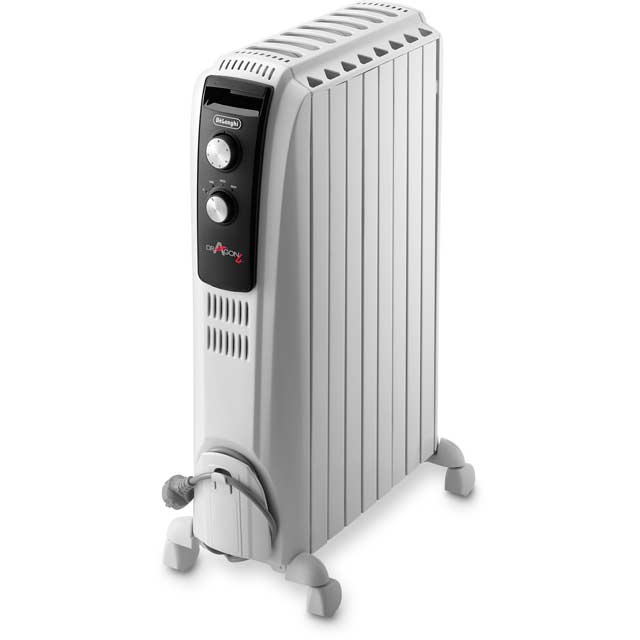 De'Longhi Dragon 4 TRD40820T Oil Filled Radiator 2000W - White - TRD40820T_WH - 1