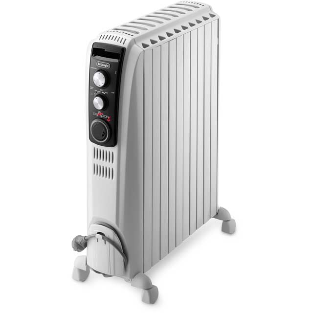De'Longhi Dragon 4 Oil Filled Radiator in White
