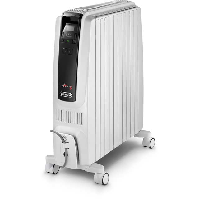 De'Longhi Dragon 4 Oil Filled Radiator 2500W - White