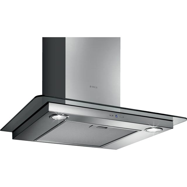 Elica TRIBE-60 60 cm Chimney Cooker Hood - Stainless Steel / Glass - B Rated - TRIBE-60_SSG - 1