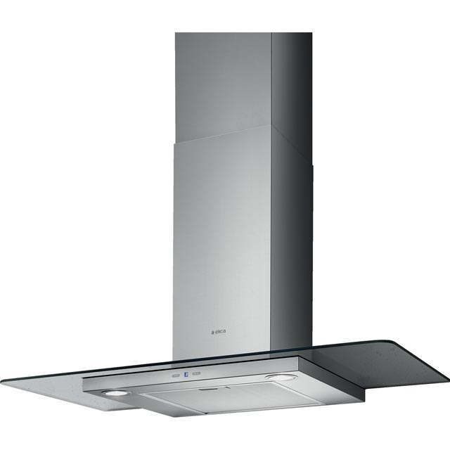Elica TRIBE-90 90 cm Chimney Cooker Hood - Stainless Steel / Glass - B Rated - TRIBE-90_SSG - 1