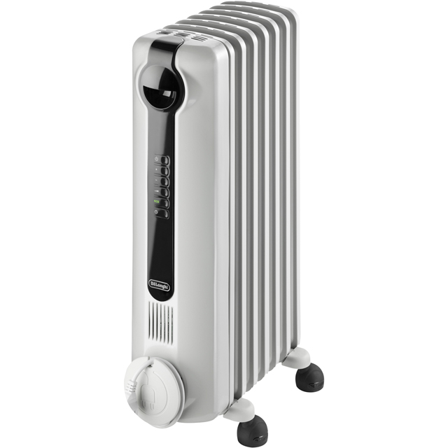 De'Longhi Dragon 4 TRRS0715E Oil Filled Radiator 1500W - White - TRRS0715E_WH - 1