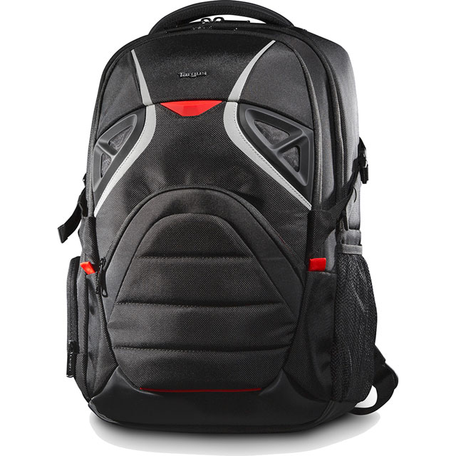 "Targus Strike Backpack for 17.3"" Laptop - Black / Red"