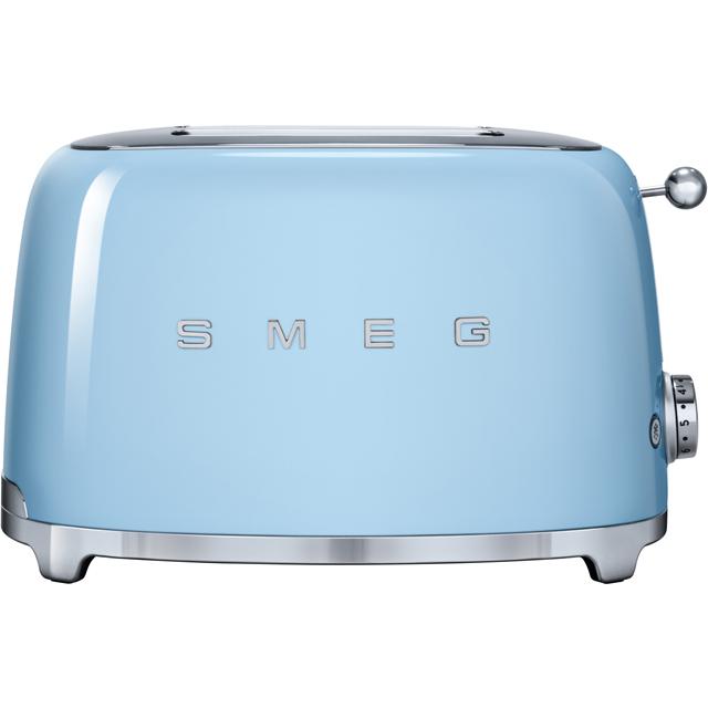 Smeg 50s Retro TSF01PBUK 2 Slice Toaster - Pastel Blue