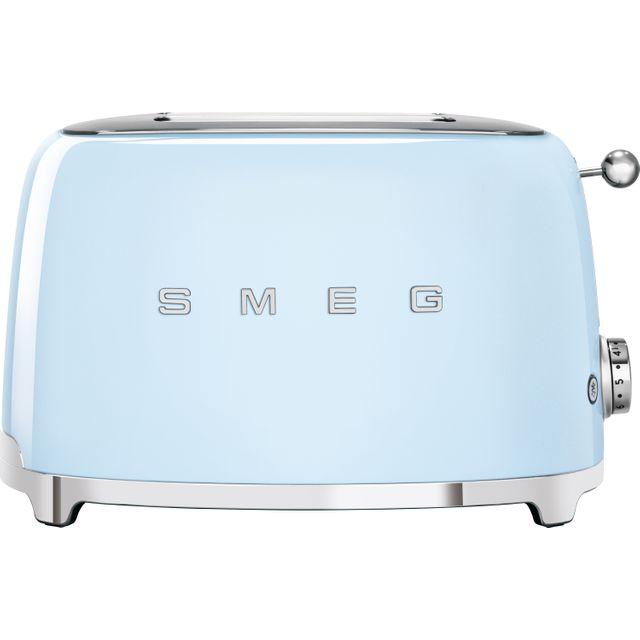 Smeg 50's Retro TSF01PBUK 2 Slice Toaster - Pastel Blue
