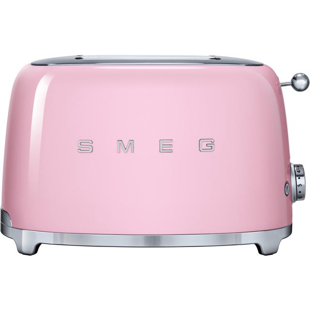 Smeg 50s Retro TSF01PKUK 2 Slice Toaster - Pink