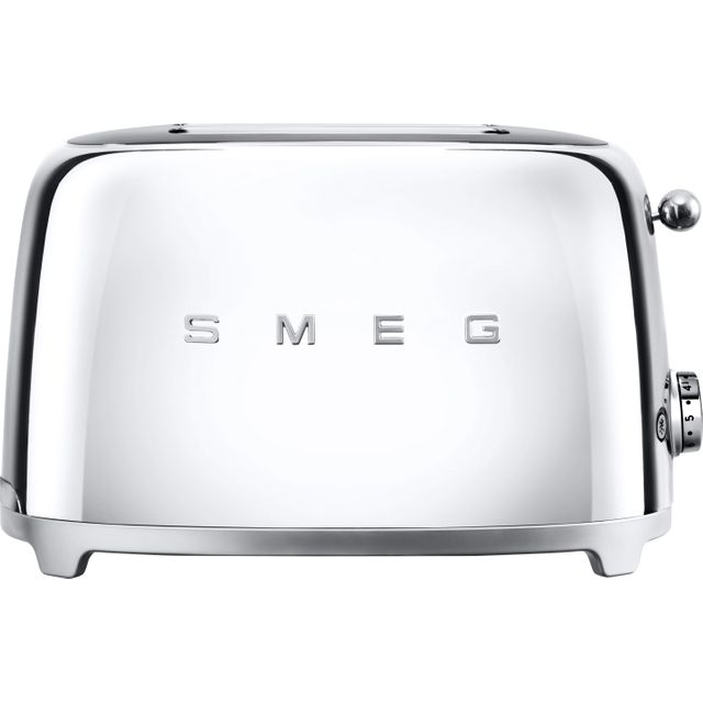 Smeg 50's Retro TSF01SSUK 2 Slice Toaster - Chrome