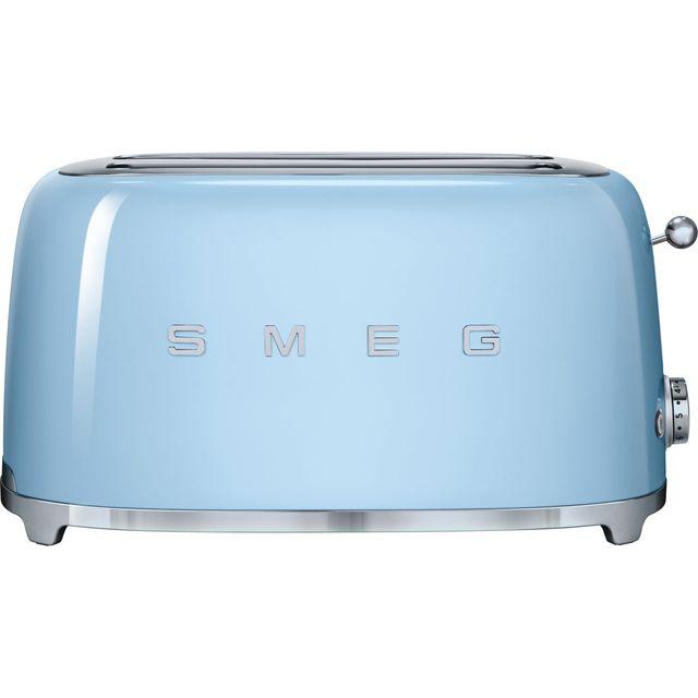 Smeg 50s Retro TSF02PBUK 4 Slice Toaster - Pastel Blue