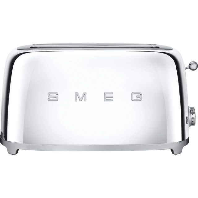 Smeg 50's Retro TSF02SSUK 4 Slice Toaster - Chrome