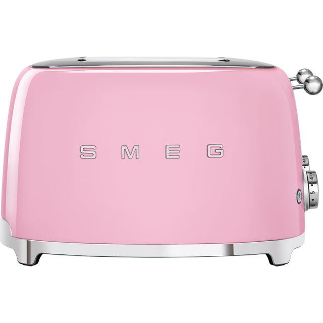 Smeg 50's Retro TSF03PKUK 4 Slice Toaster - Pink