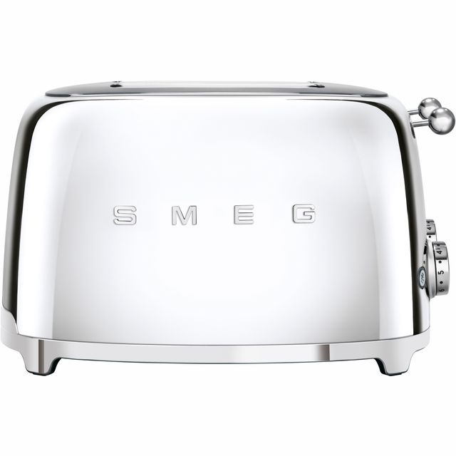 Smeg 50's Retro 4 Slice Toaster - Stainless Steel
