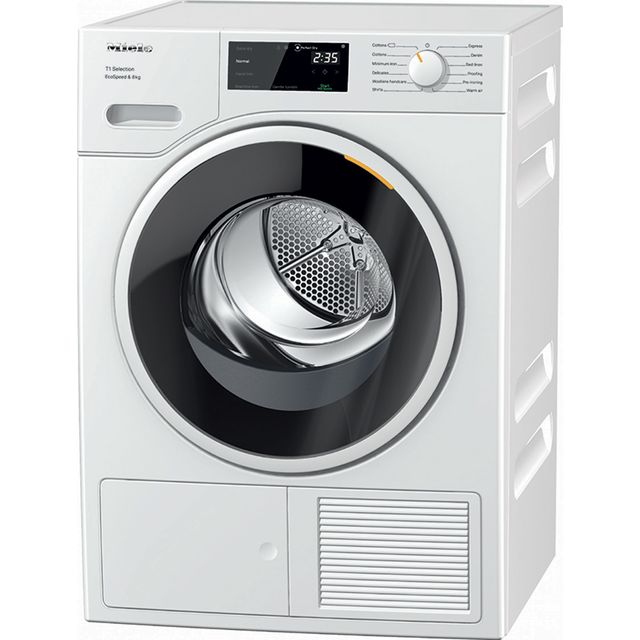 Miele T1 TSF643WP 8Kg Heat Pump Tumble Dryer - White - A+++ Rated - TSF643WP_WH - 1