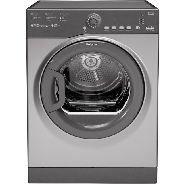 Hotpoint Aquarius TVFS73BGG Free Standing Vented Tumble Dryer in Graphite