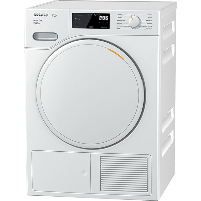 Miele T1 Active Plus Free Standing Condenser Tumble Dryer in White