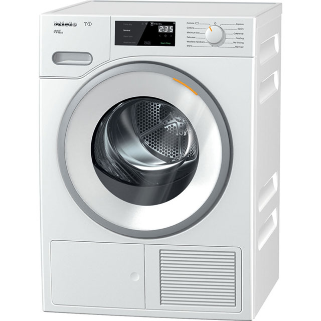 Miele T1 TWF620WP Free Standing Condenser Tumble Dryer in White