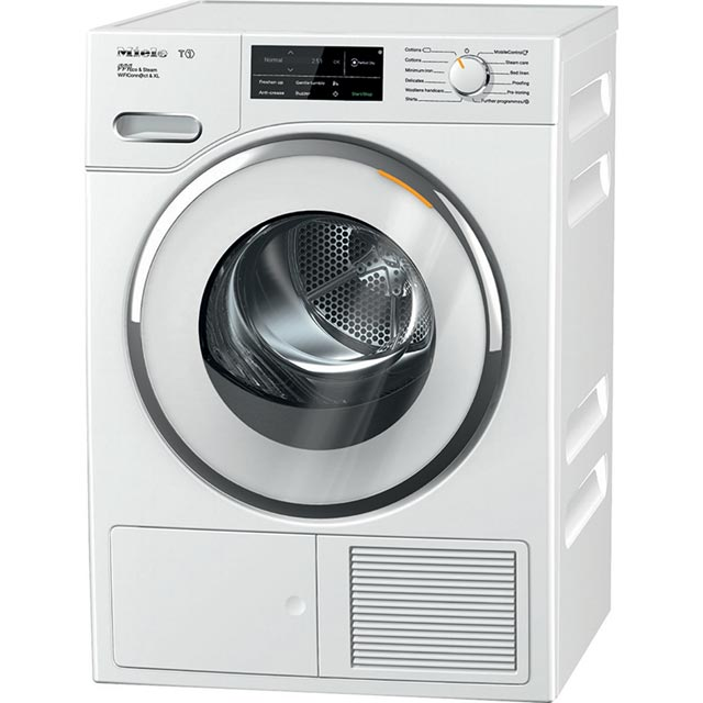 Miele T1 TWJ680WP Wifi Connected 9Kg Heat Pump Tumble Dryer - White - A+++ Rated