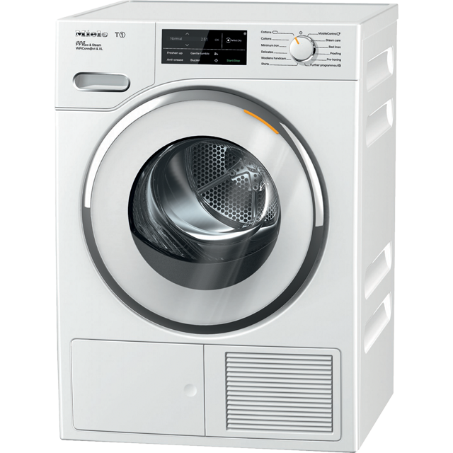 Miele T1 TWJ680WP Wifi Connected 9Kg Heat Pump Tumble Dryer - White - A+++ Rated - TWJ680WP_WH - 1