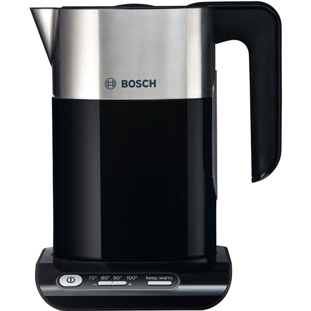 Bosch Styline TWK8633GB Kettle with Temperature Selector - Black / Stainless Steel