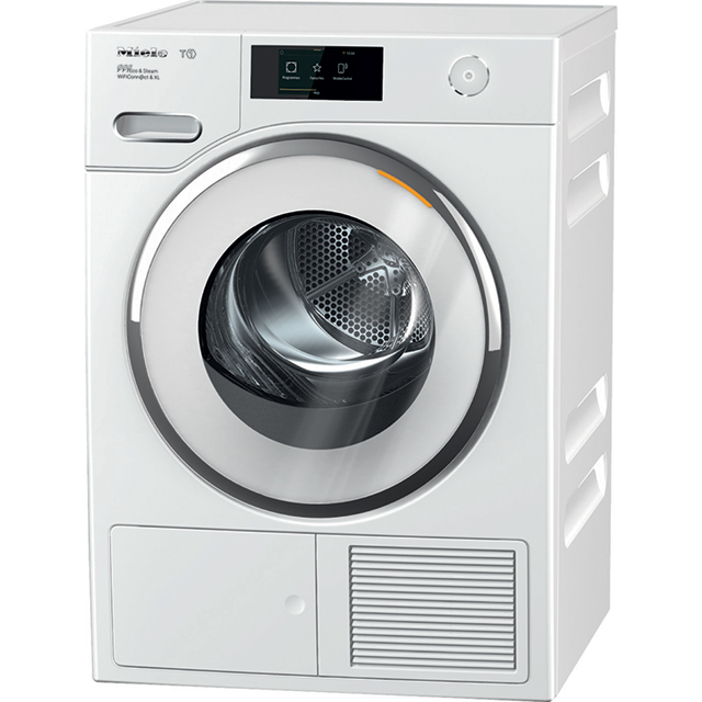 Miele T1 WhiteEdition TWR860WP Wifi Connected 9Kg Heat Pump Tumble Dryer - White - A+++ Rated - TWR860WP_WH - 1