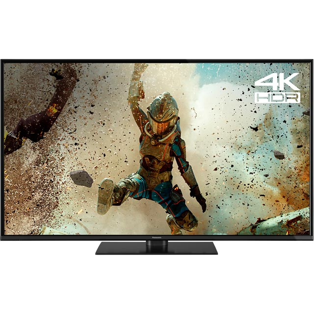 "Panasonic TX-55FX550B 55"" Smart 4K Ultra HD TV with HDR and Freeview Play - Black - [ Rated] - TX-55FX550B - 1"
