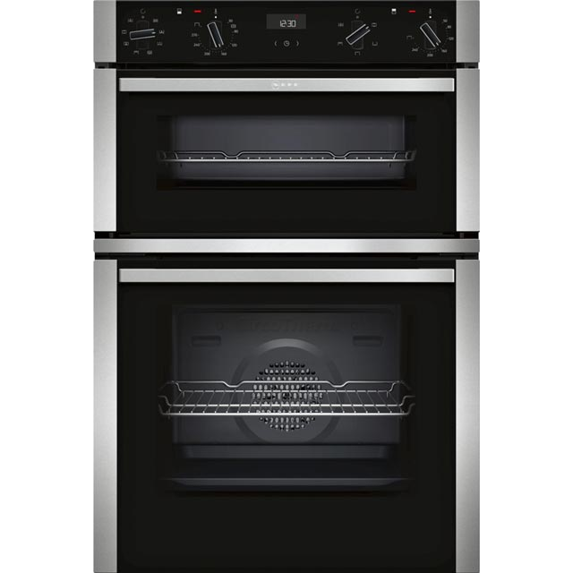 NEFF N50 U1ACE2HN0B Built In Double Oven - Stainless Steel - A/B Rated - U1ACE2HN0B_SS - 1