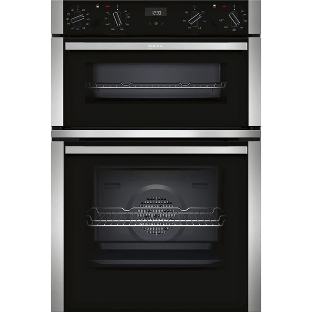 NEFF N50 U1ACE5HN0B Built In Double Oven - Black - A/B Rated