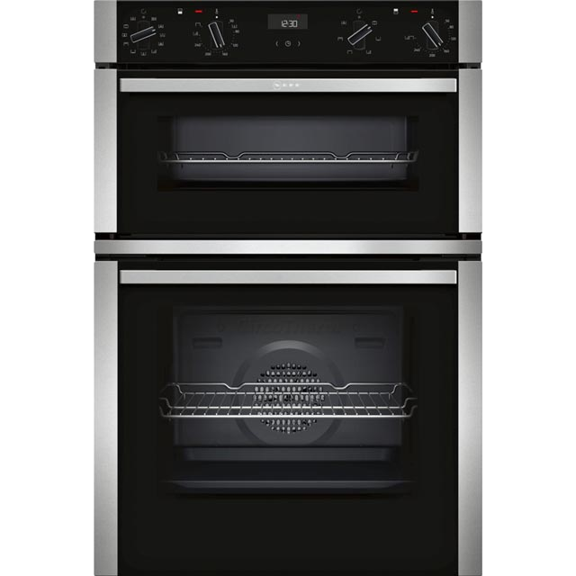 NEFF N50 U1ACI5HN0B Built In Double Oven - Stainless Steel - A/B Rated - U1ACI5HN0B_SS - 1