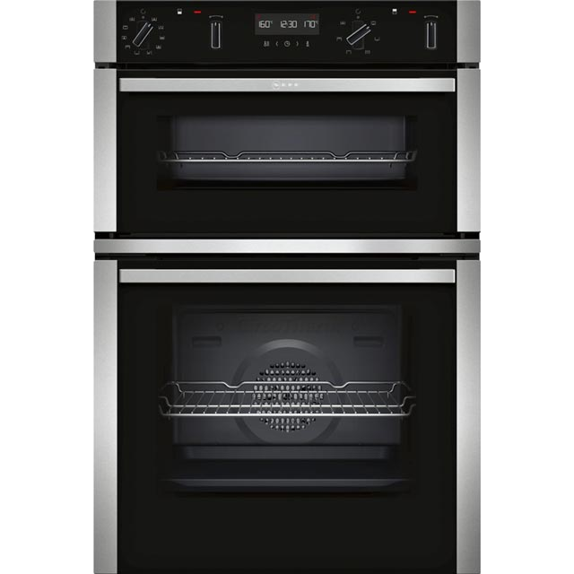 NEFF N50 U2ACM7HN0B Built In Electric Double Oven - Stainless Steel - U2ACM7HN0B_SS - 1
