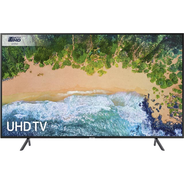 "Samsung UE55NU7100 55"" Smart 4K Ultra HD TV with HDR - Charcoal Black - [A Rated] - UE55NU7100 - 1"