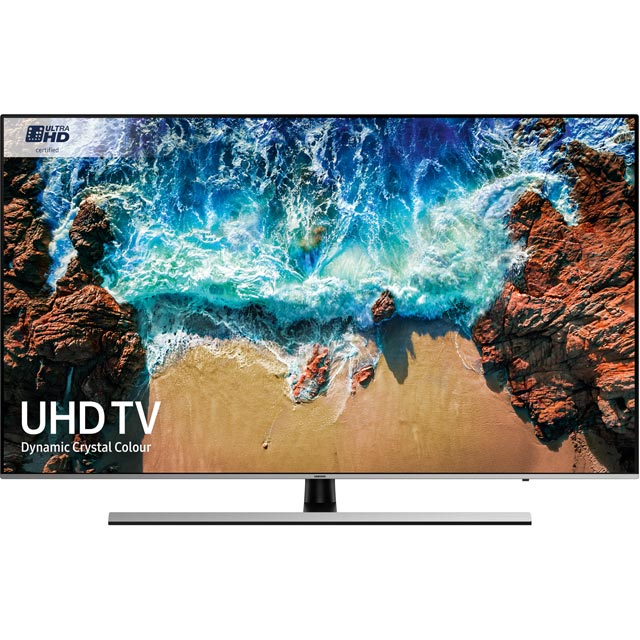 "Samsung UE55NU8000 55"" Smart 4K Ultra HD TV with HDR - Black / Silver - [A Rated] - UE55NU8000 - 1"
