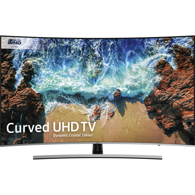 "Samsung UE55NU8500 55"" Curved Smart 4K Ultra HD TV with HDR - Black / Silver - [A Rated] - UE55NU8500 - 1"