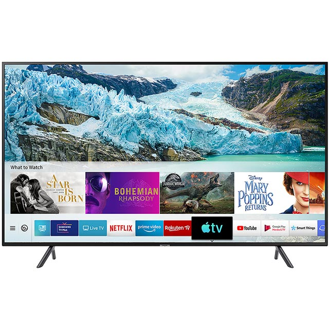 "Samsung UE55RU7100 55"" Smart 4K Ultra HD TV - Charcoal Black - UE55RU7100 - 1"