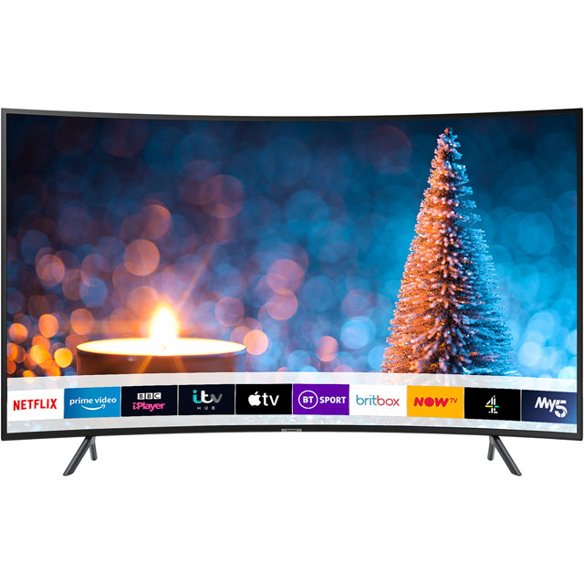 "Samsung UE55RU7300 55"" Curved Smart 4K Ultra HD TV with HDR10+, Apple TV, Slim Design and One Remote Control - UE55RU7300 - 1"
